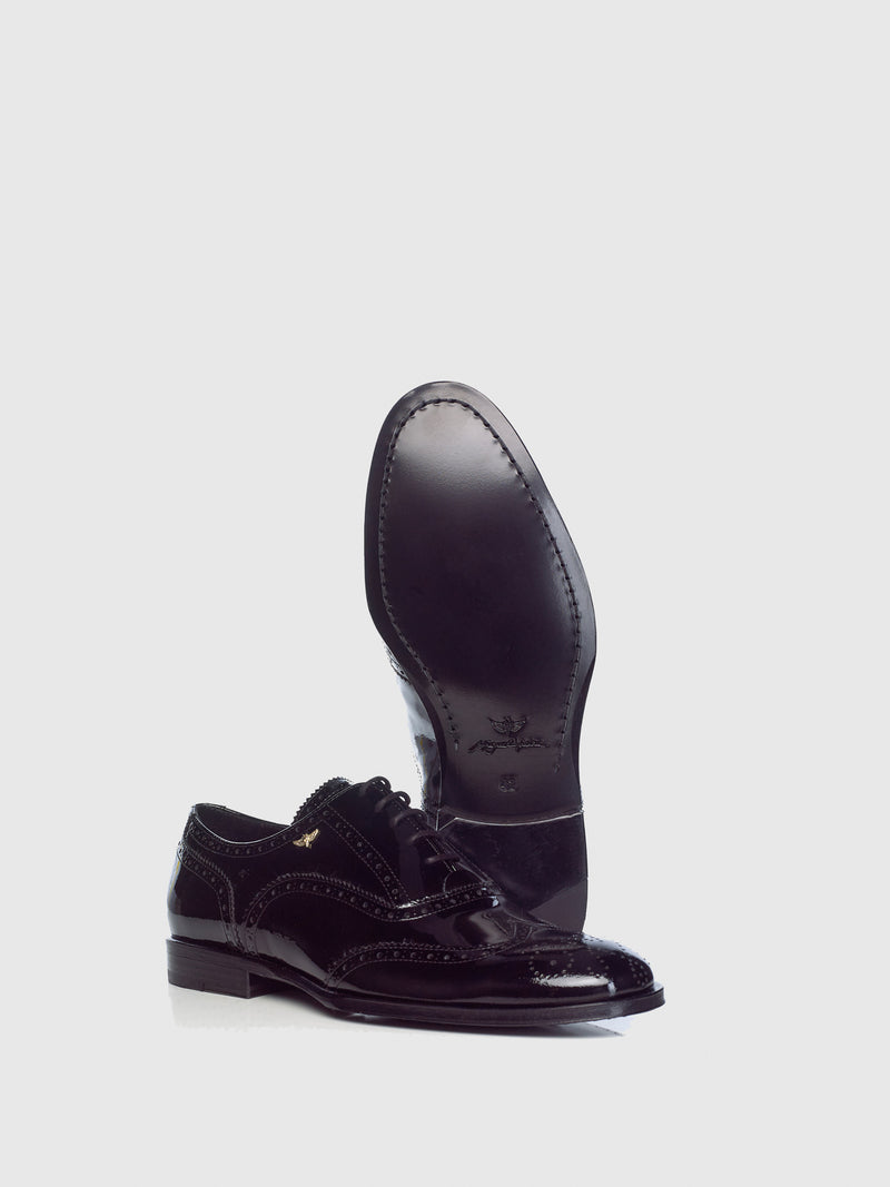 Miguel Vieira Black Oxford Brogue Shoes