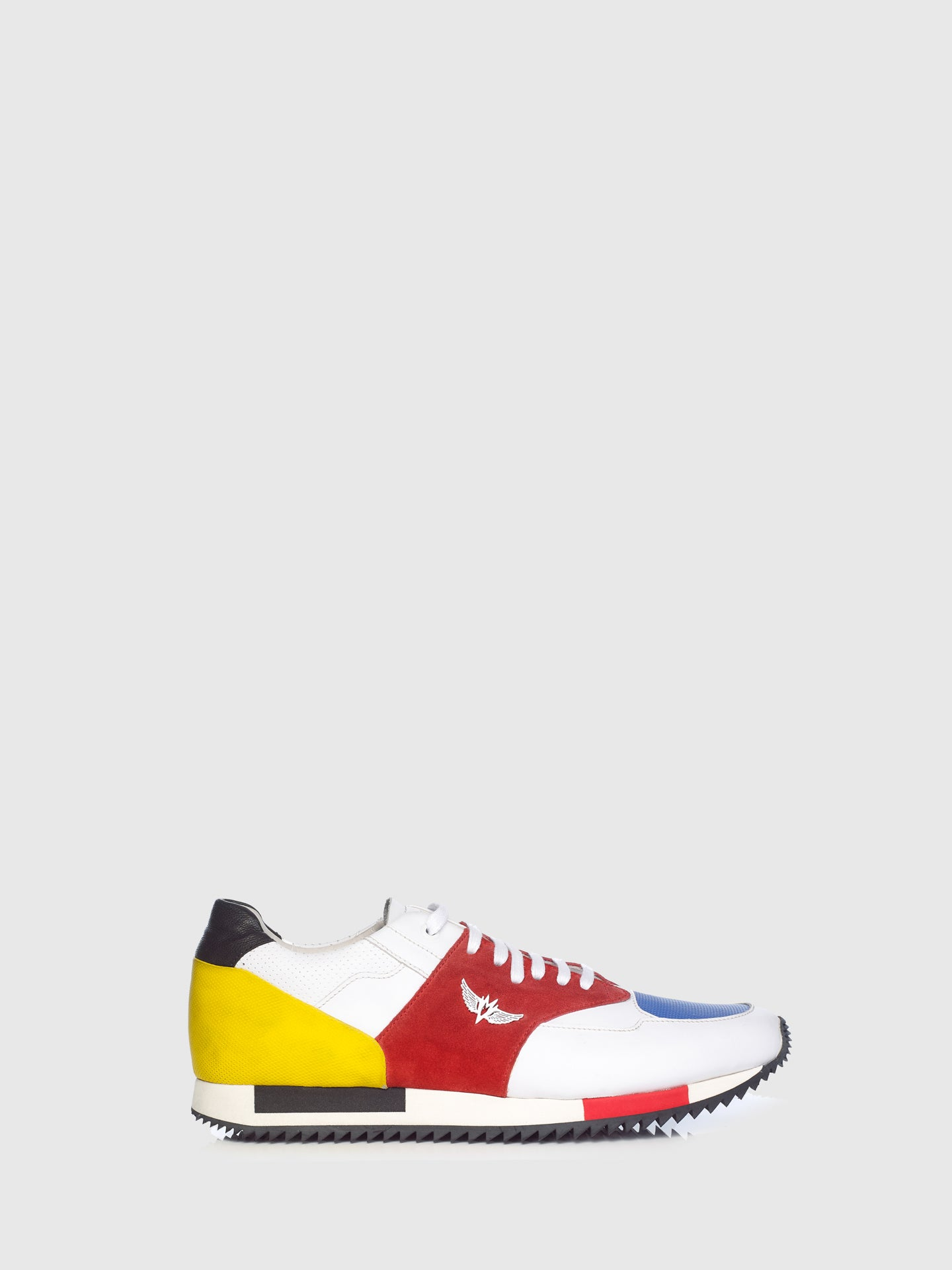 Miguel Vieira Blue Red Mix Lace-up Trainers
