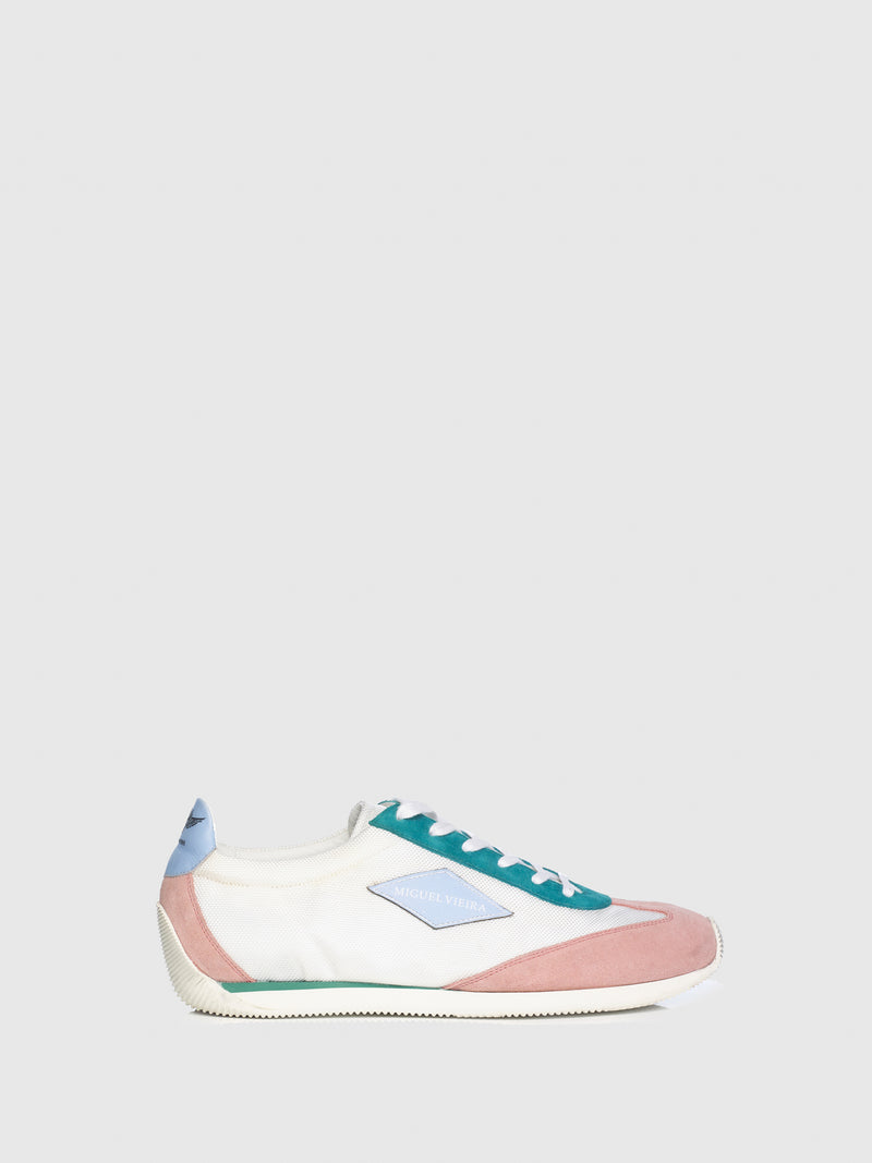Miguel Vieira Pink Mix Lace-up Trainers