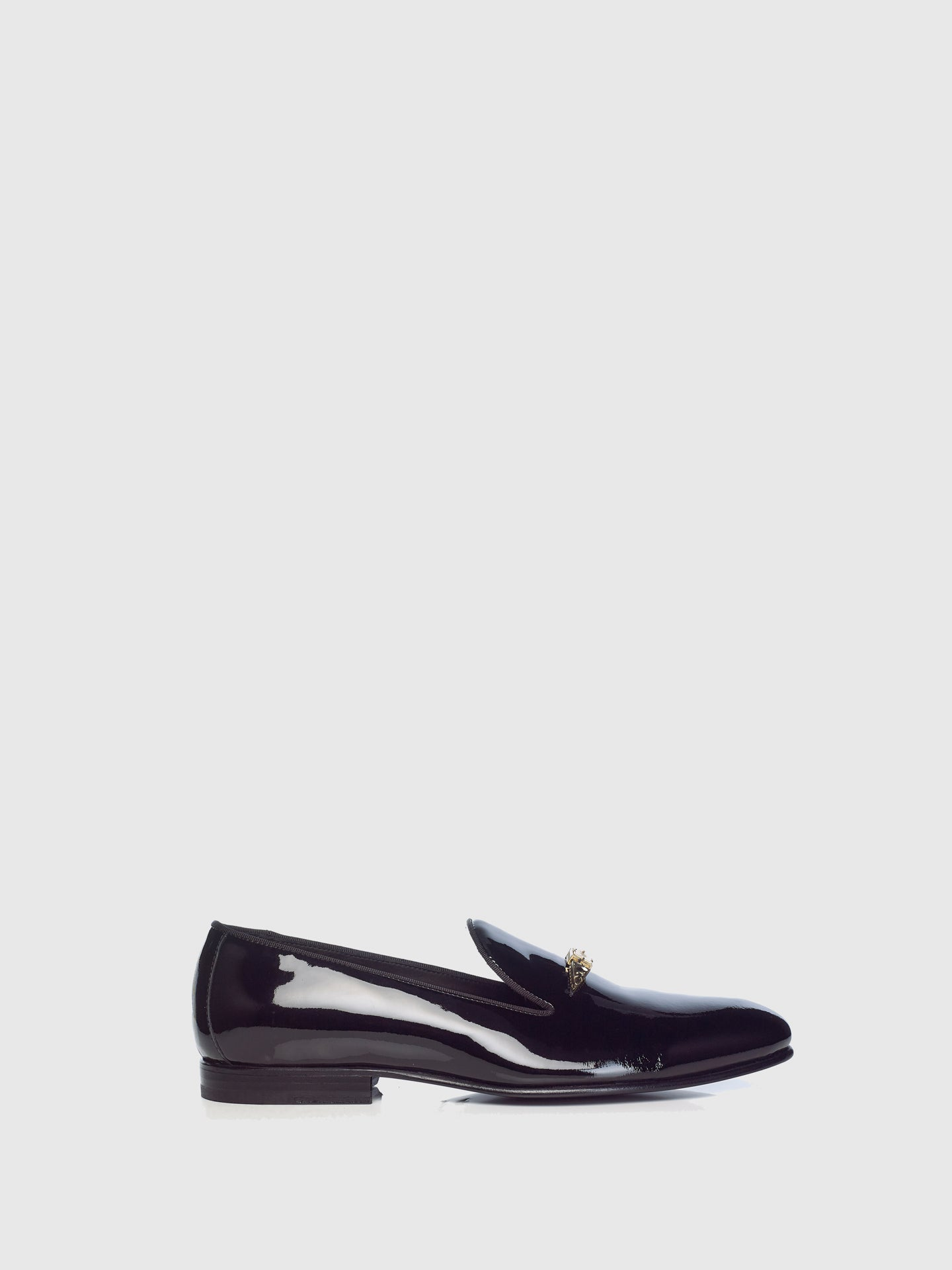 Miguel Vieira Black Metallic Detail Loafers