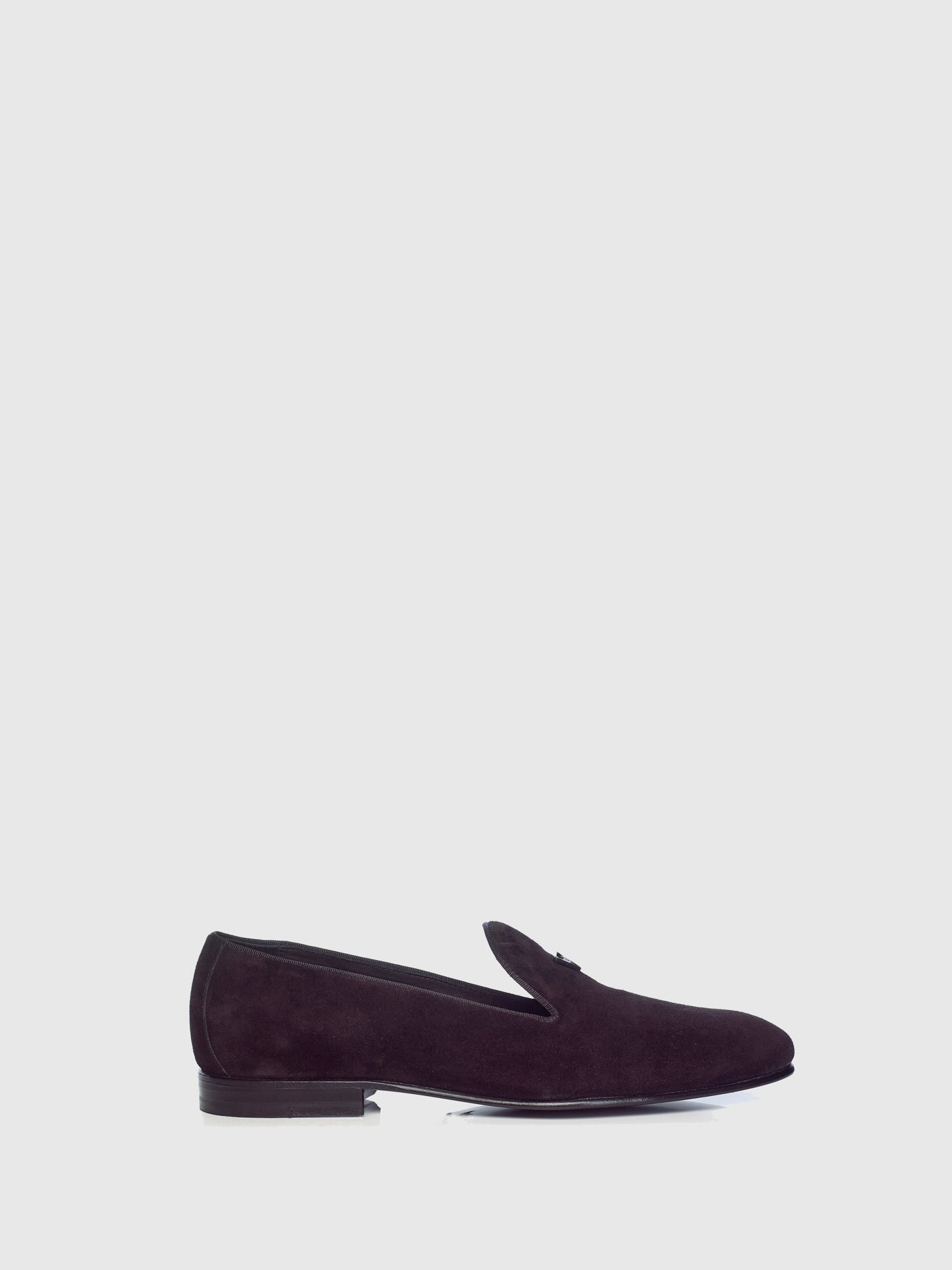 Miguel Vieira Black Metallic Logo Loafers