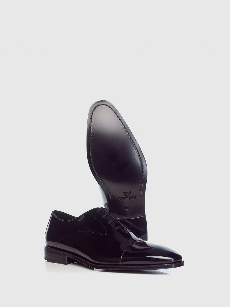 Miguel Vieira Black Oxford Shoes
