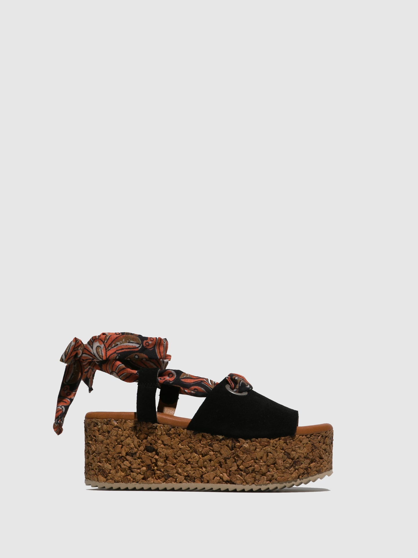 Marila Shoes Black Platform Sandals
