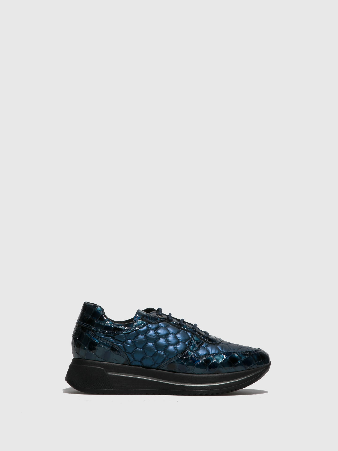 Marila Shoes Blue Black Platform Trainers