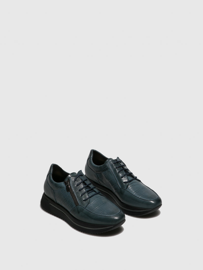 Blue Black Platform Trainers