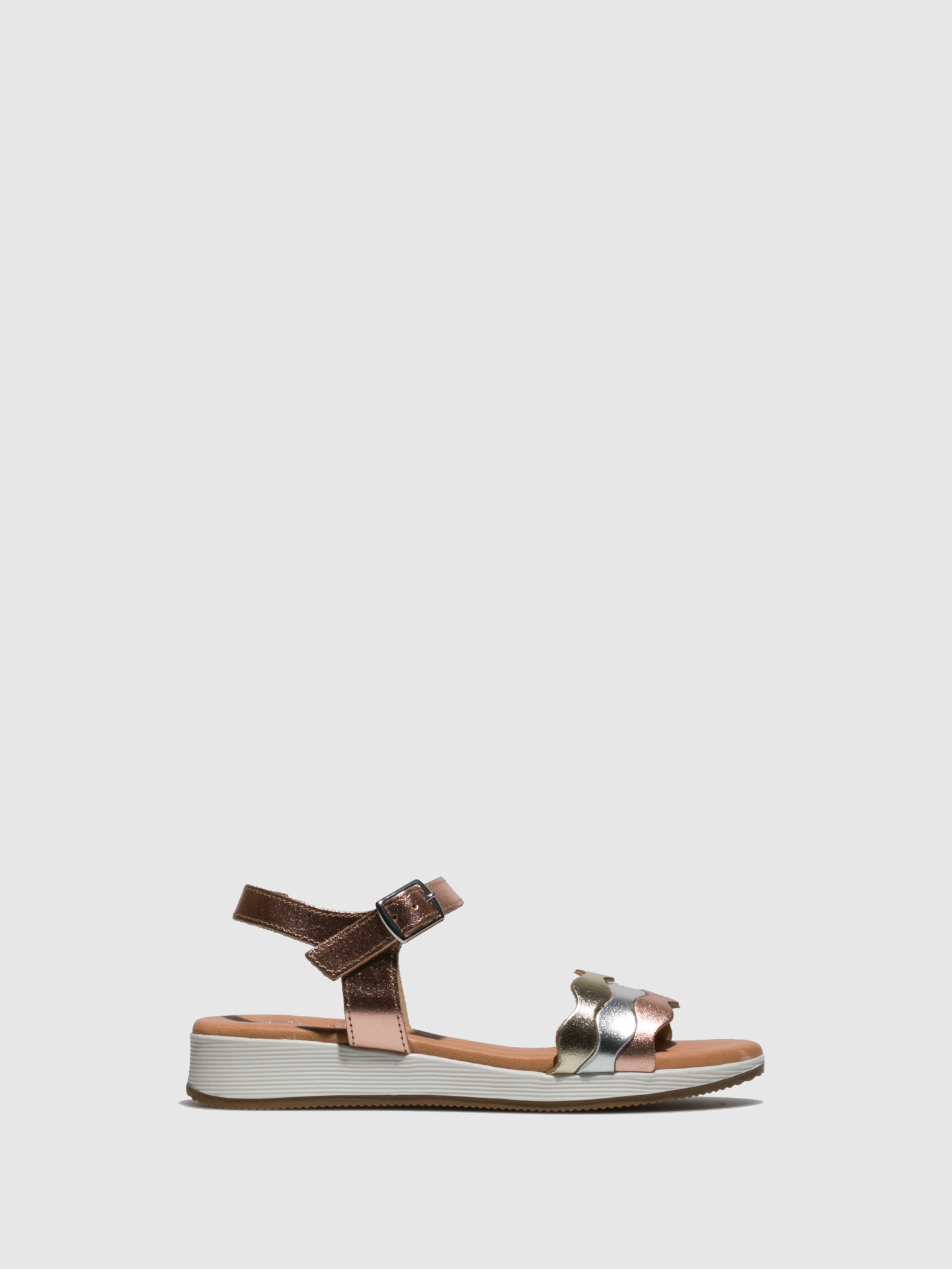 Marila Shoes RoseGold Buckle Sandals
