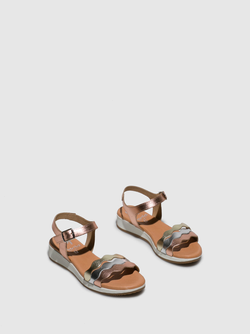 RoseGold Buckle Sandals