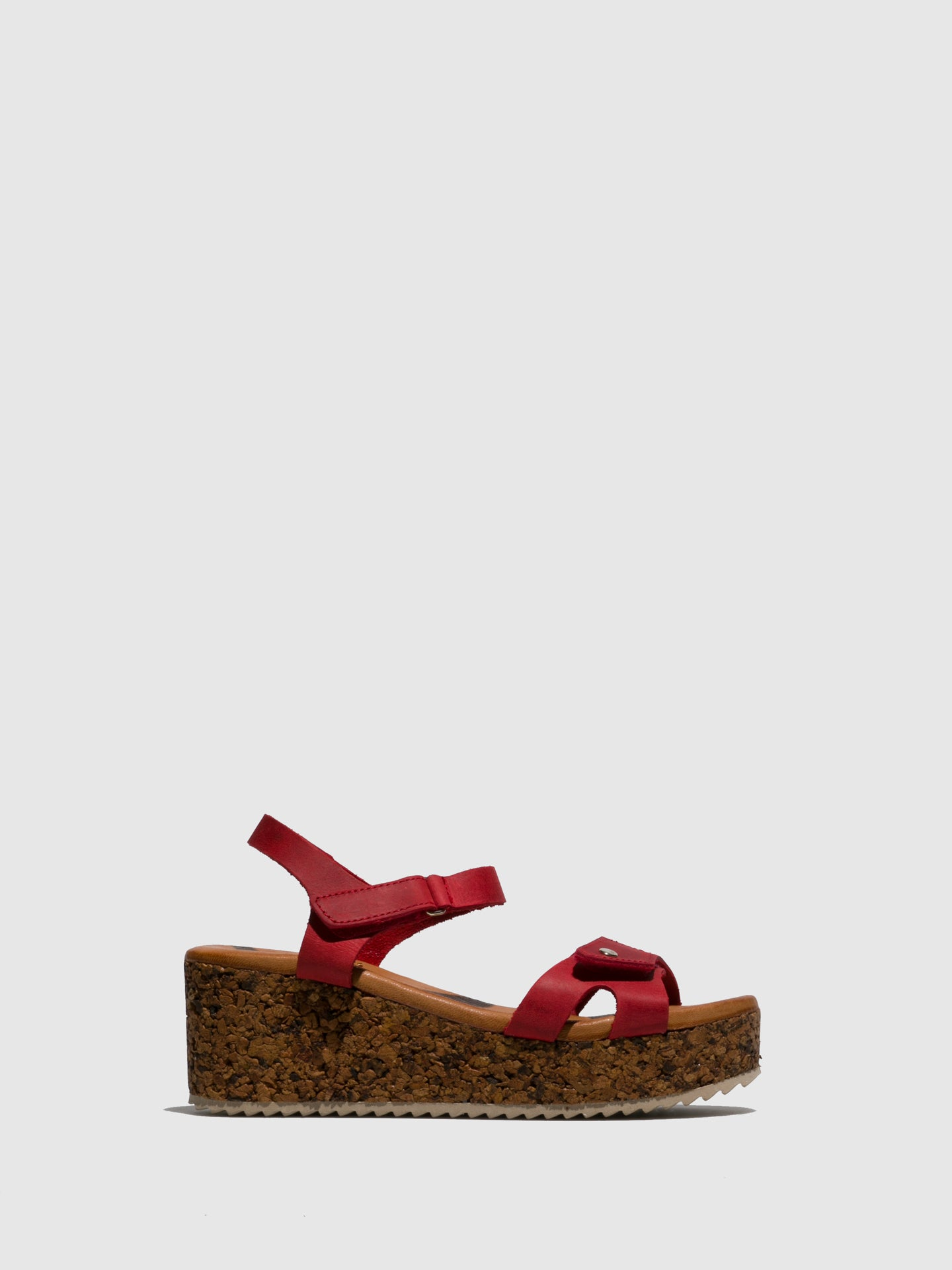 Marila Shoes Red Wedge Sandals
