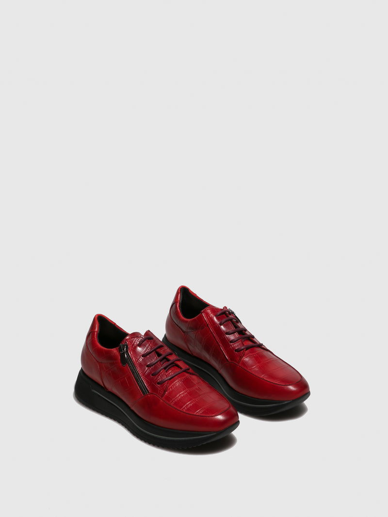 Marila Shoes DarkRed Platform Trainers