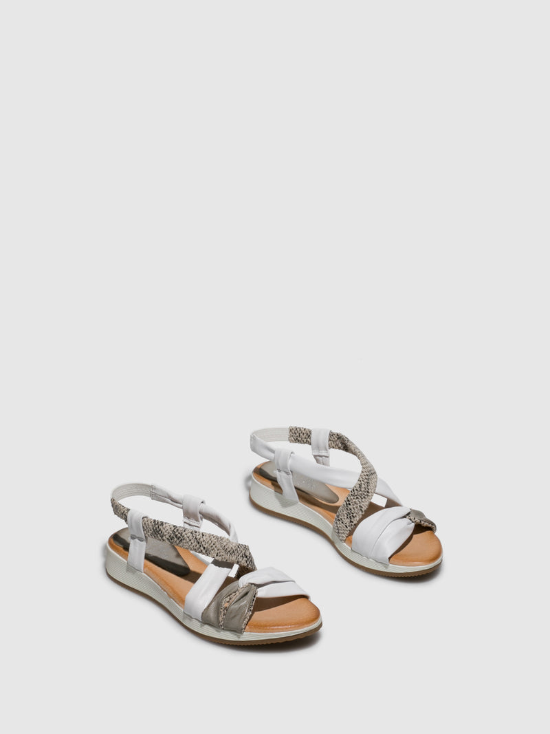 Marila Shoes White Crossover Sandals
