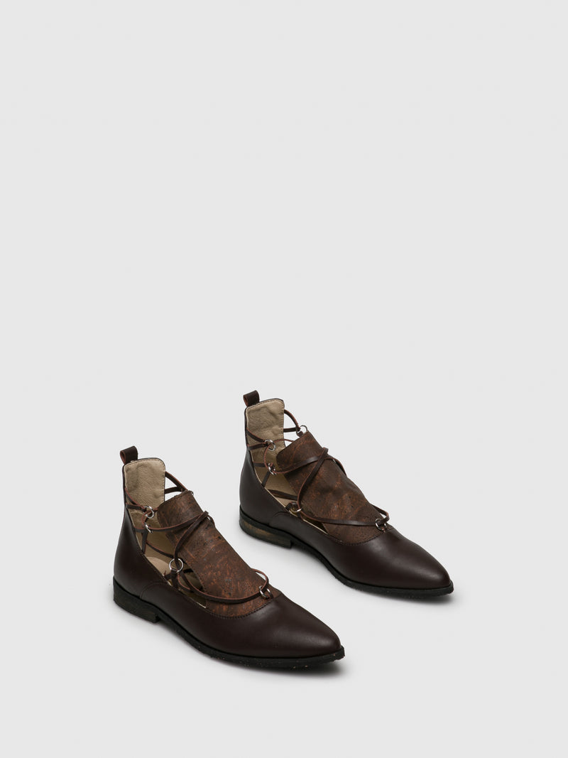 Brown Pointed Toe Shoes