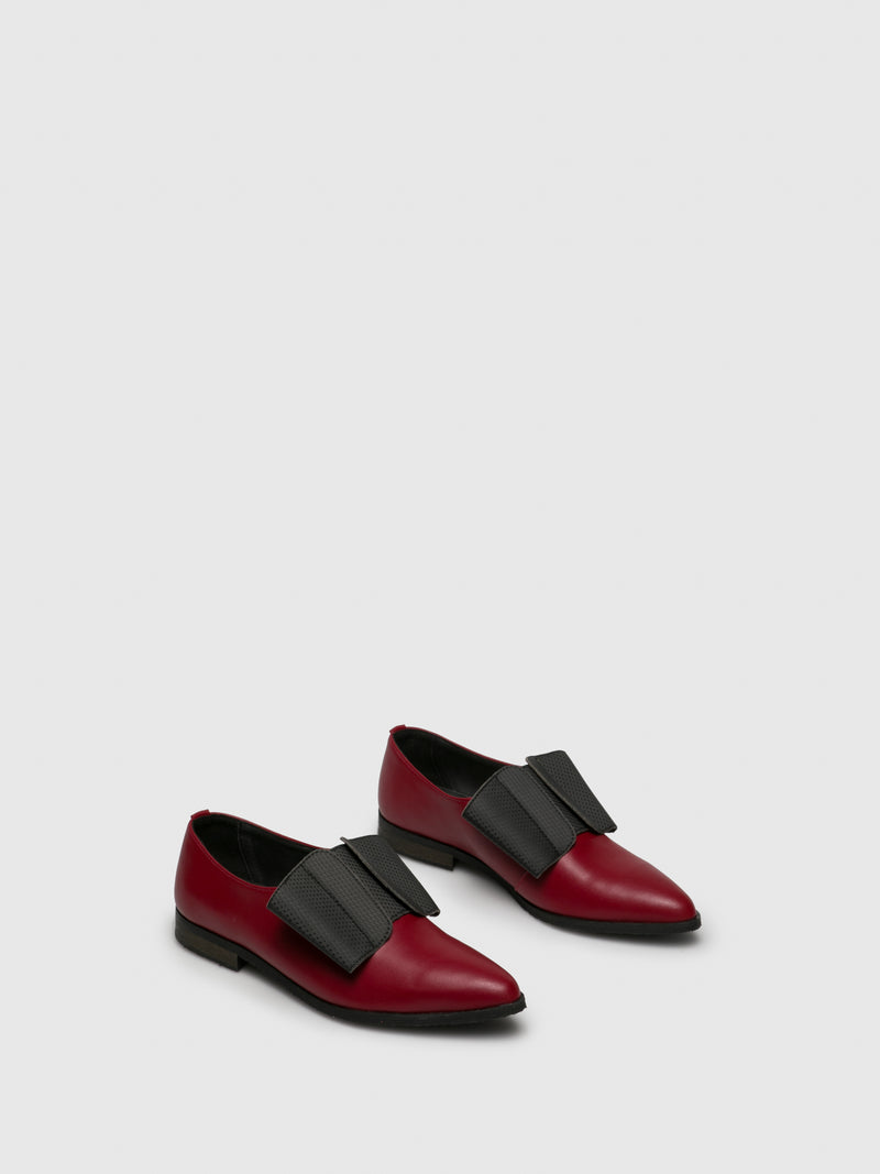 Red Black Pointed Toe Shoes