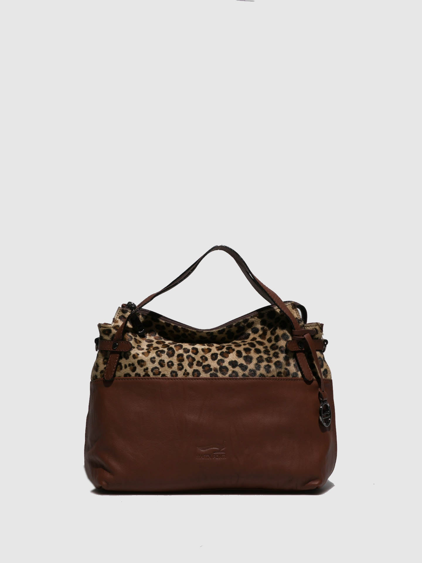 Marta Ponti Camel Leather Handbag