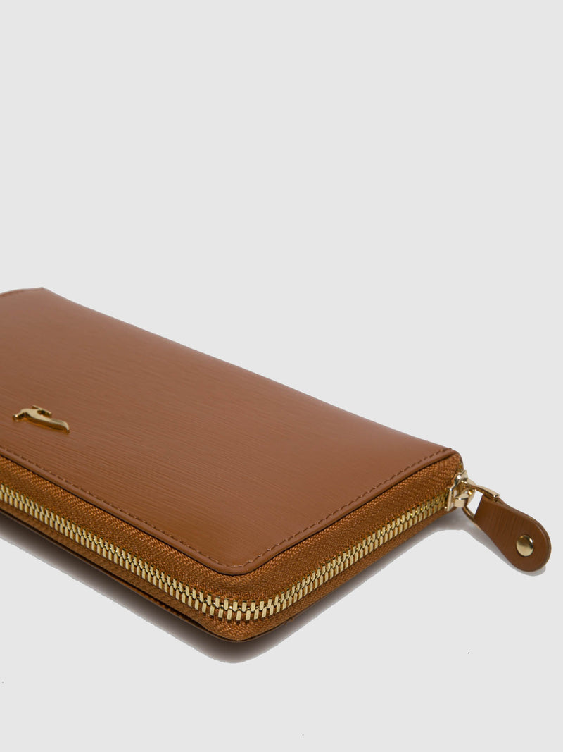 Marta Ponti Camel Leather Wallet