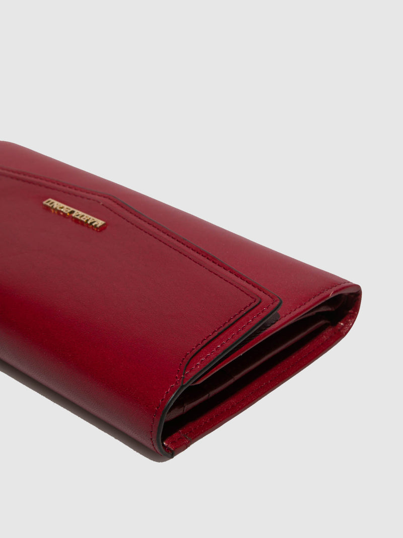 Marta Ponti Red Leather Wallet