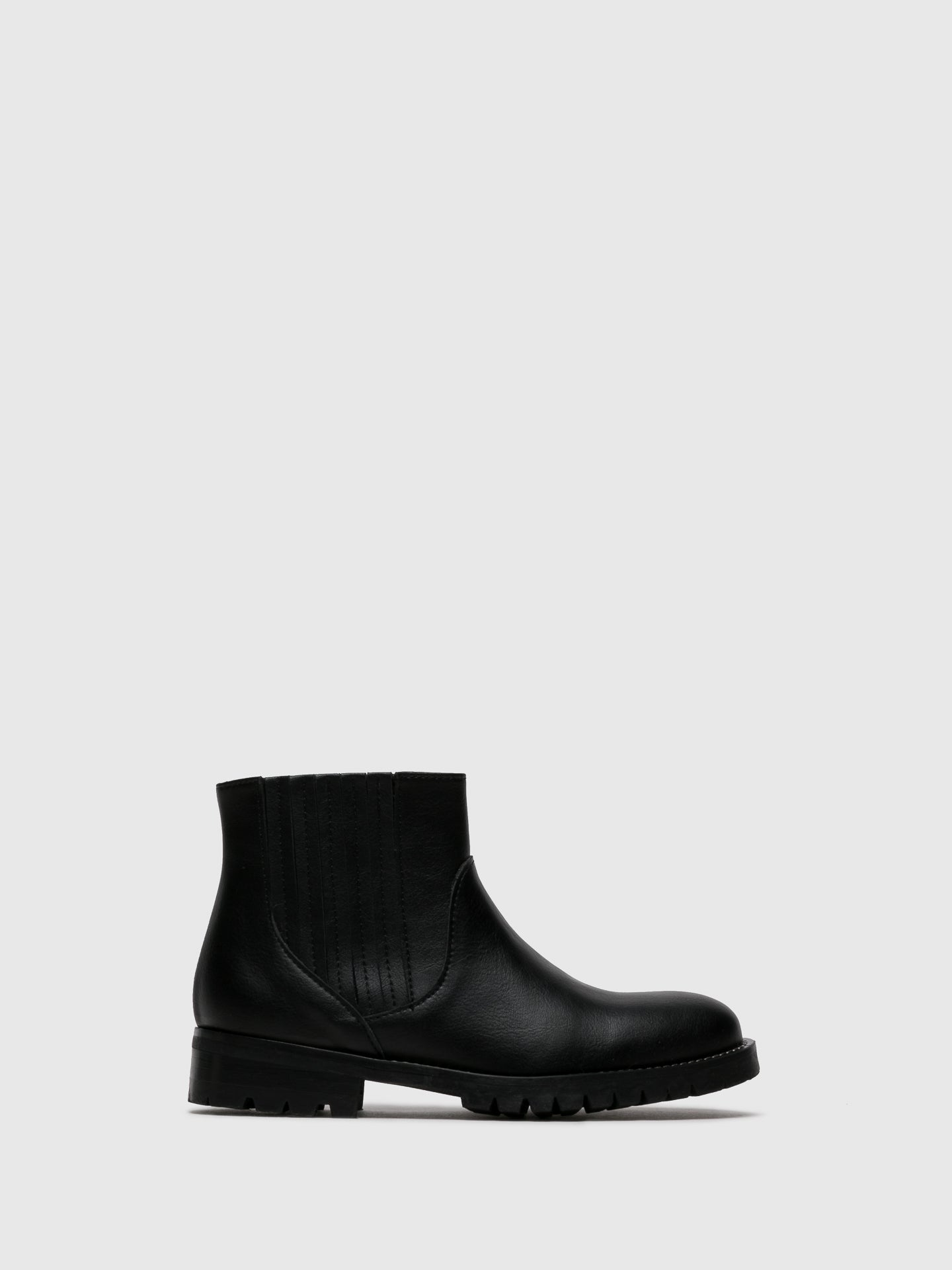 NAE Vegan Shoes Black Elasticated Ankle Boots