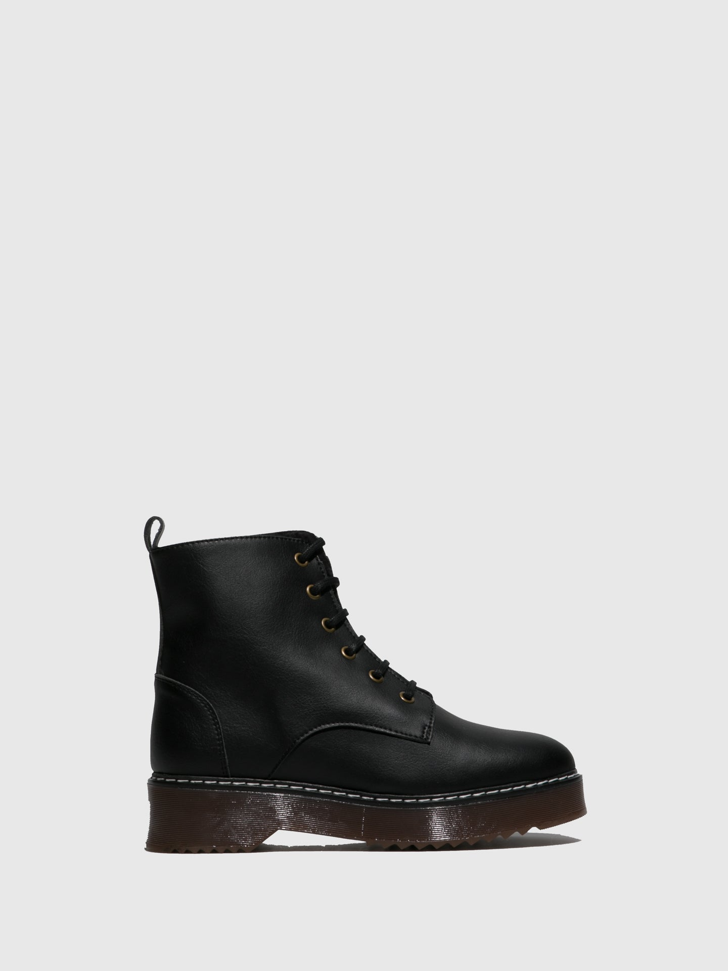 NAE Vegan Shoes Black Lace-up Boots
