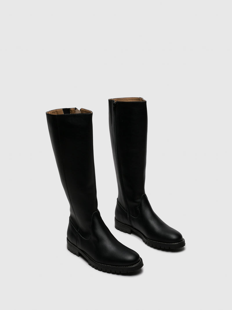 NAE Vegan Shoes Black Knee-High Boots