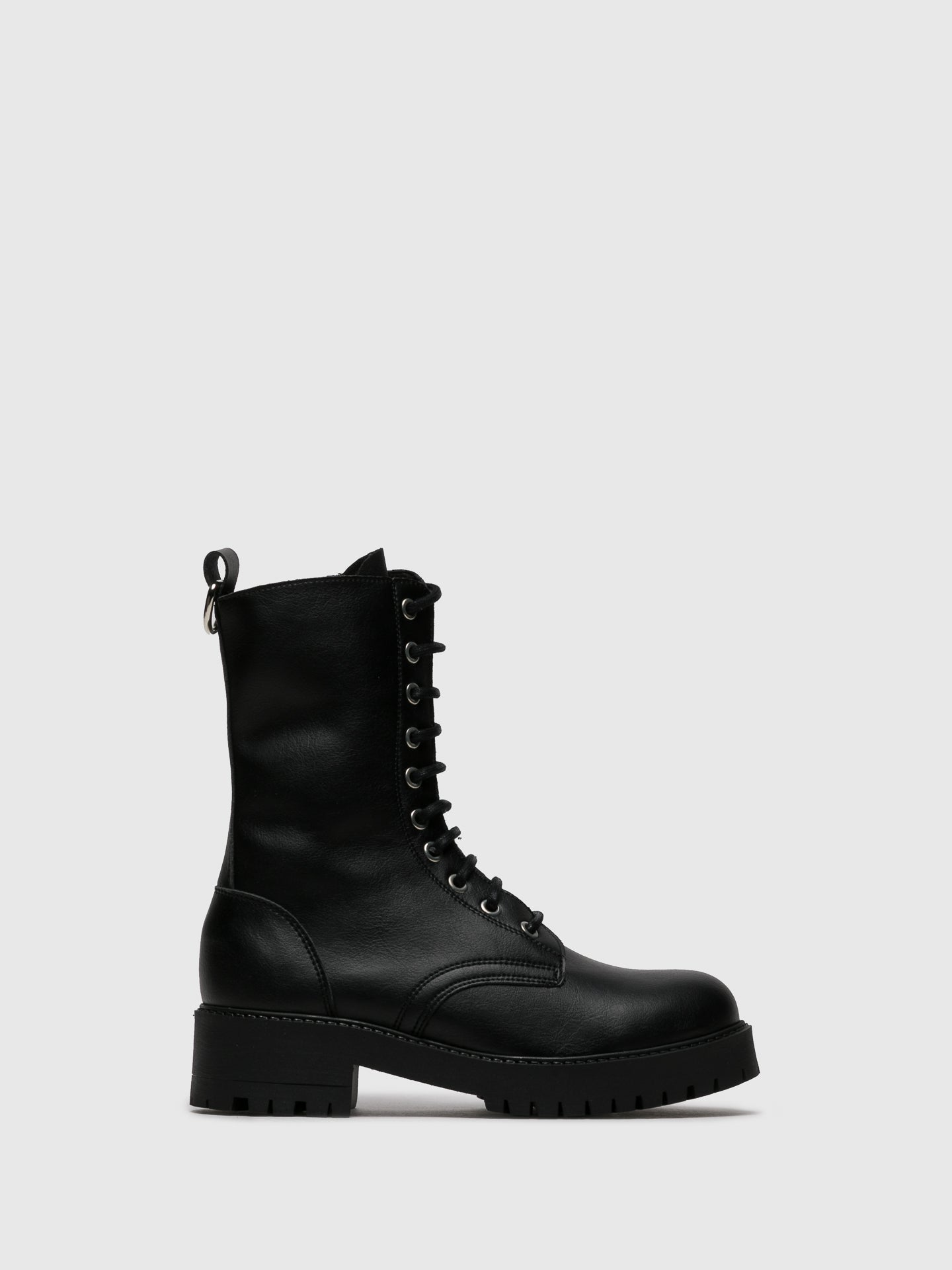 NAE Vegan Shoes Black Zip Up Boots