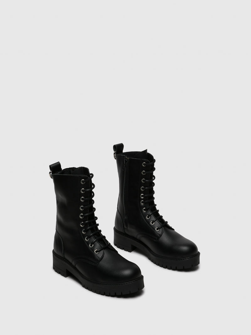 Black Zip Up Boots