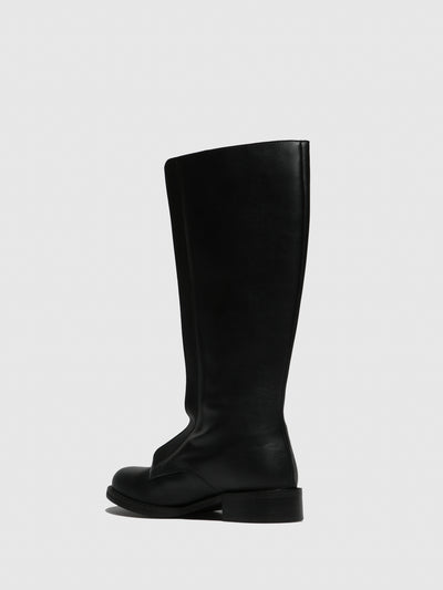 NAE Vegan Shoes Black Round Toe Boots