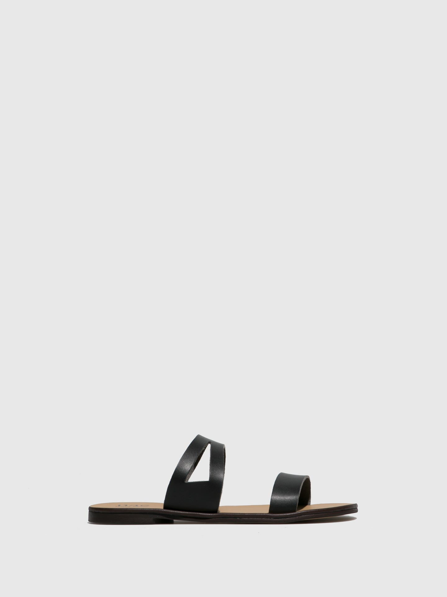 NAE Vegan Shoes Black Flat Sandals
