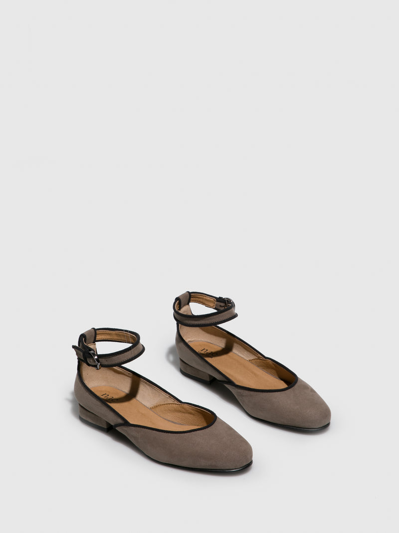 NAE Vegan Shoes Gray Flat Shoes