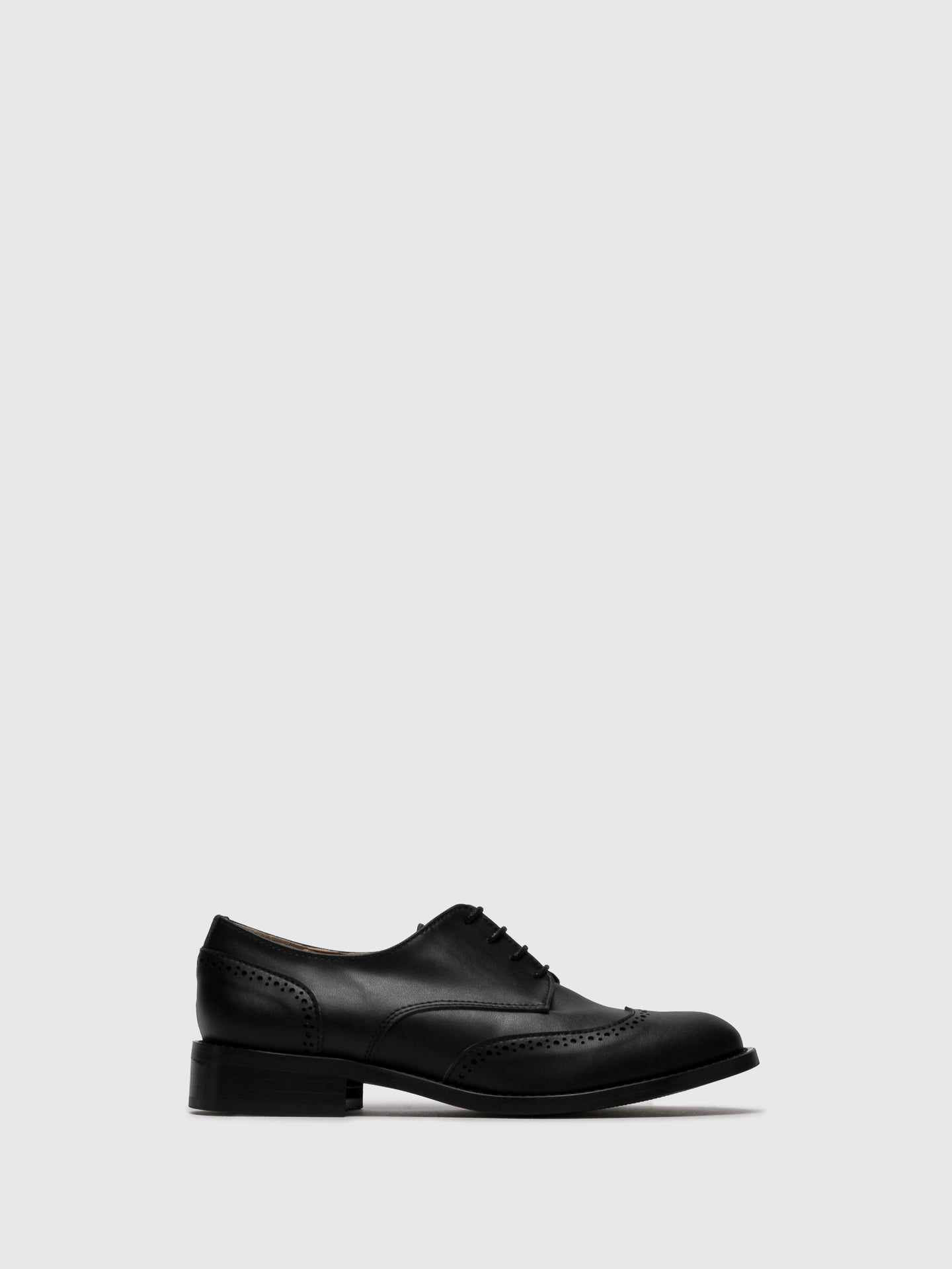 NAE Vegan Shoes Black Oxford