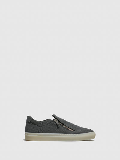 NAE Vegan Shoes Black Zip Up Trainers
