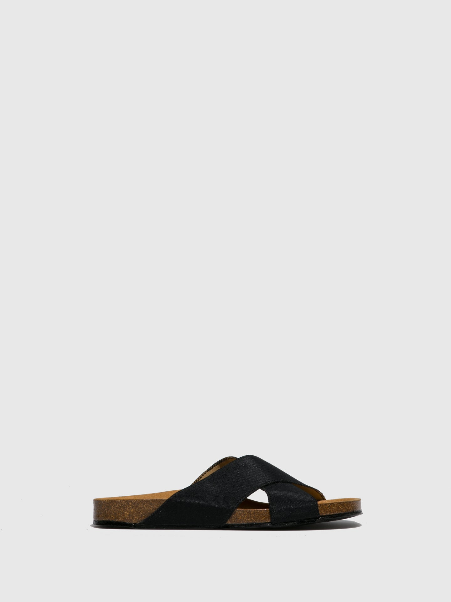 NAE Vegan Shoes Black Crossover Sandals