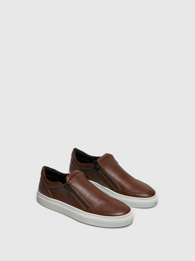 Brown Zip Up Trainers