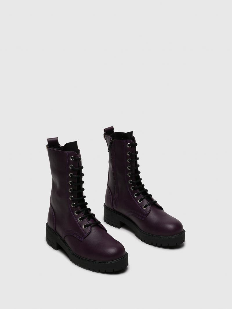 Purple Zip Up Boots