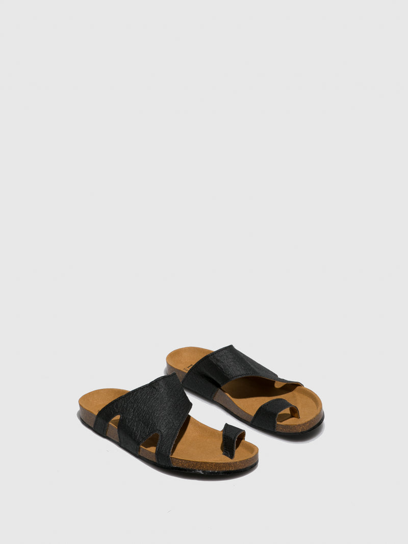 NAE Vegan Shoes Black Open Toe Sandals