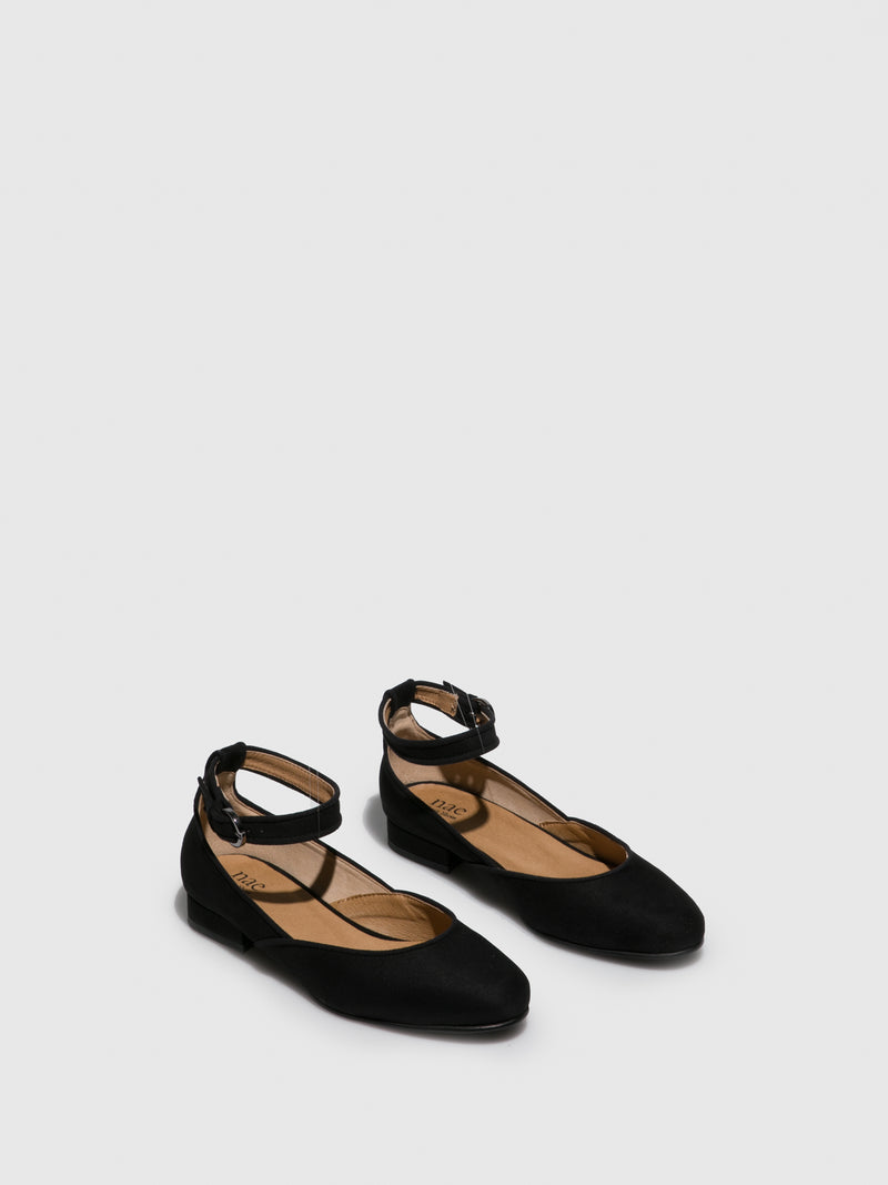 NAE Vegan Shoes Black Flat Shoes