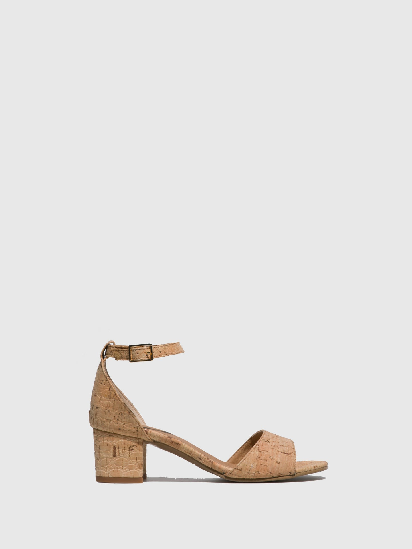 NAE Vegan Shoes Brown Ankle Strap Sandals