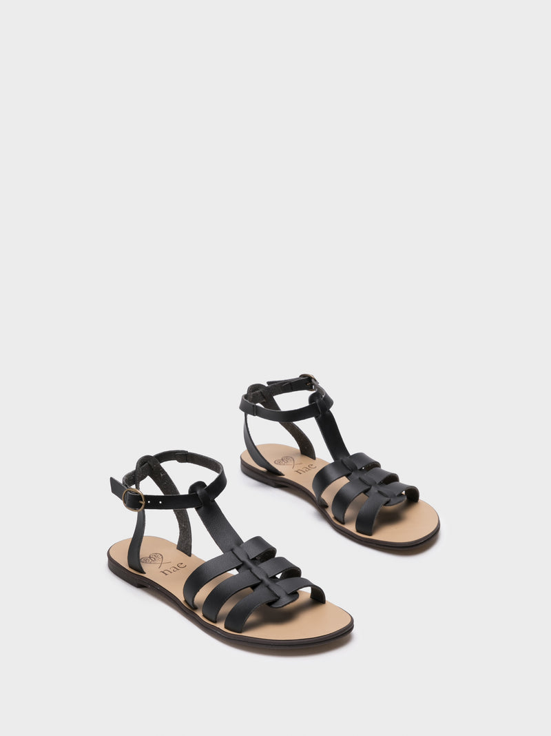 NAE Black Gladiator Sandals