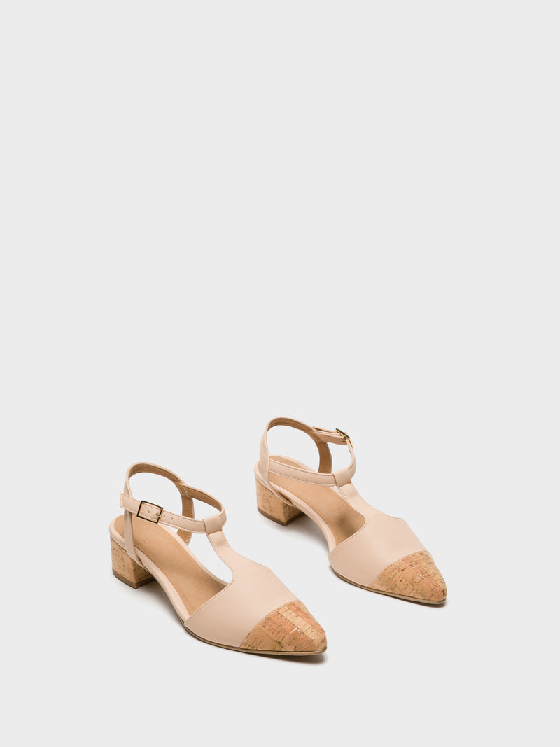 NAE Beige Pointed Toe Shoes