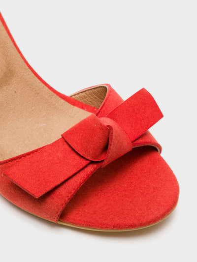 NAE Vegan Shoes Red Ankle Strap Sandals