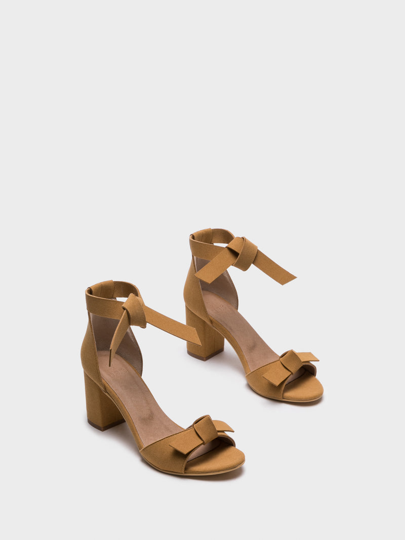NAE Vegan Shoes Yellow Ankle Strap Sandals