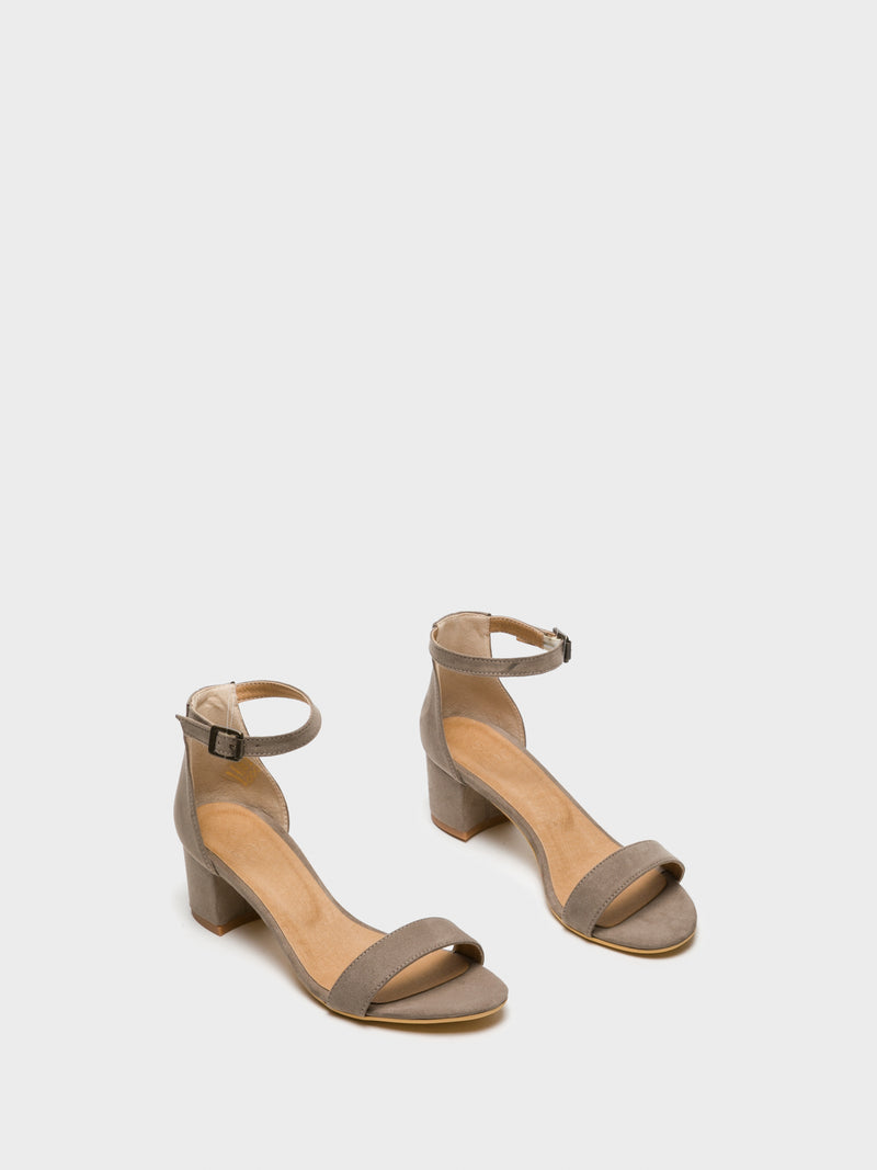 NAE Vegan Shoes Brown Buckle Sandals