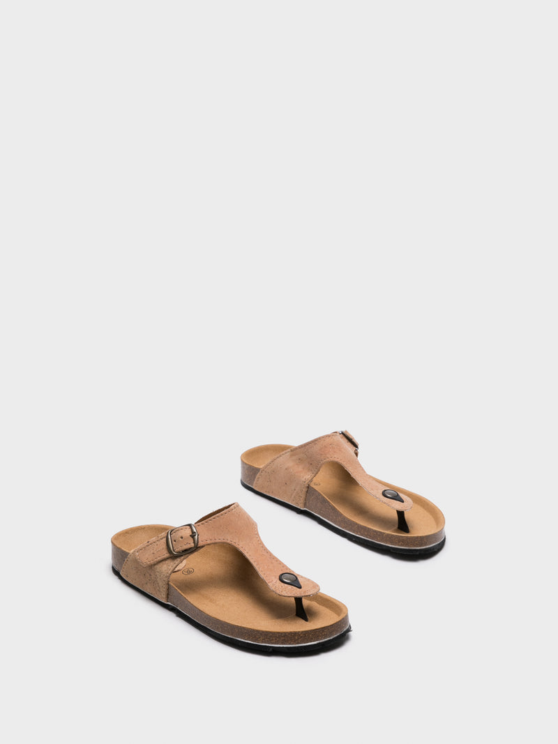 NAE Brown Thong Sandals