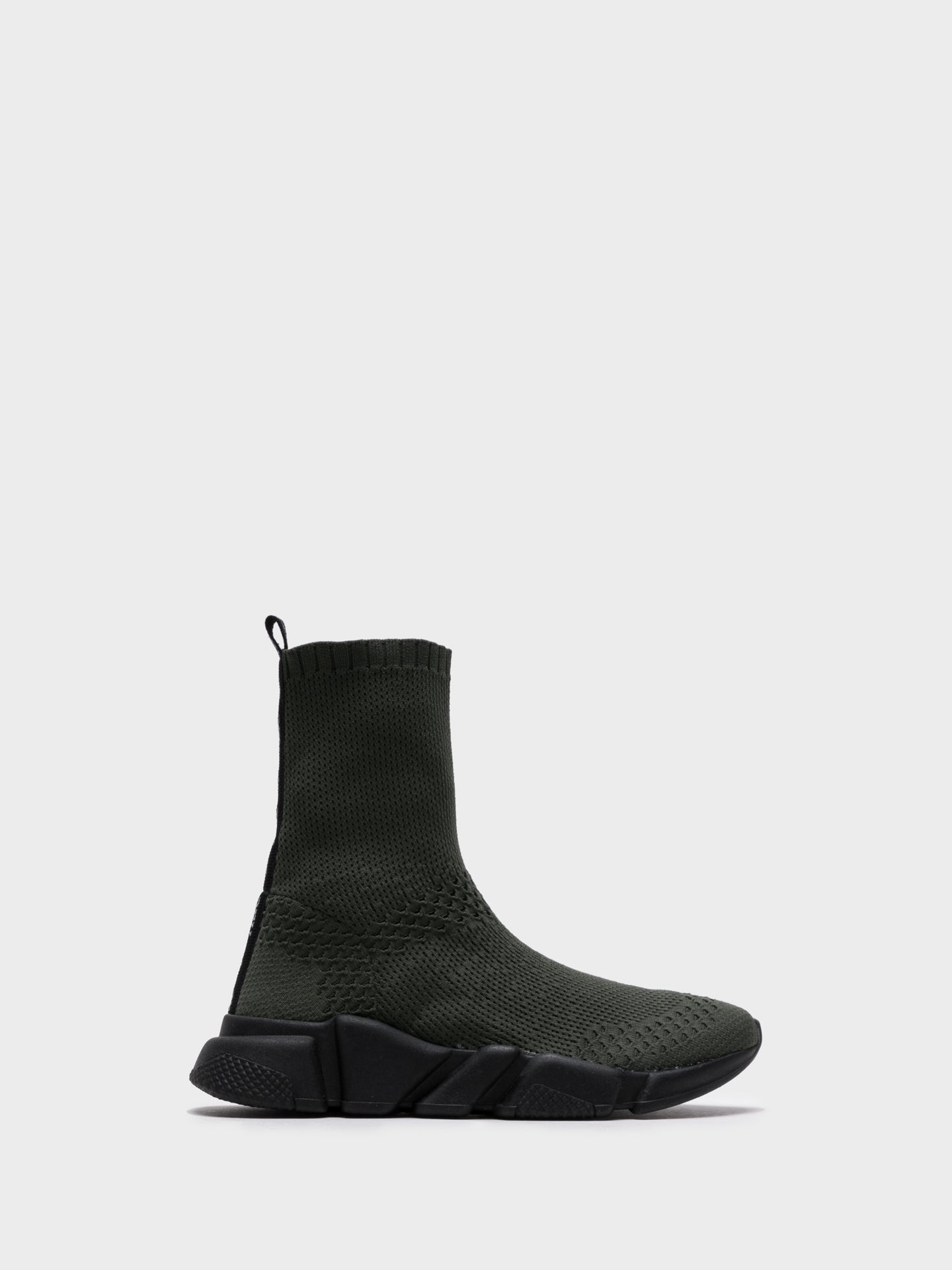 NAE Vegan Shoes DarkGreen Hi-Top Trainers