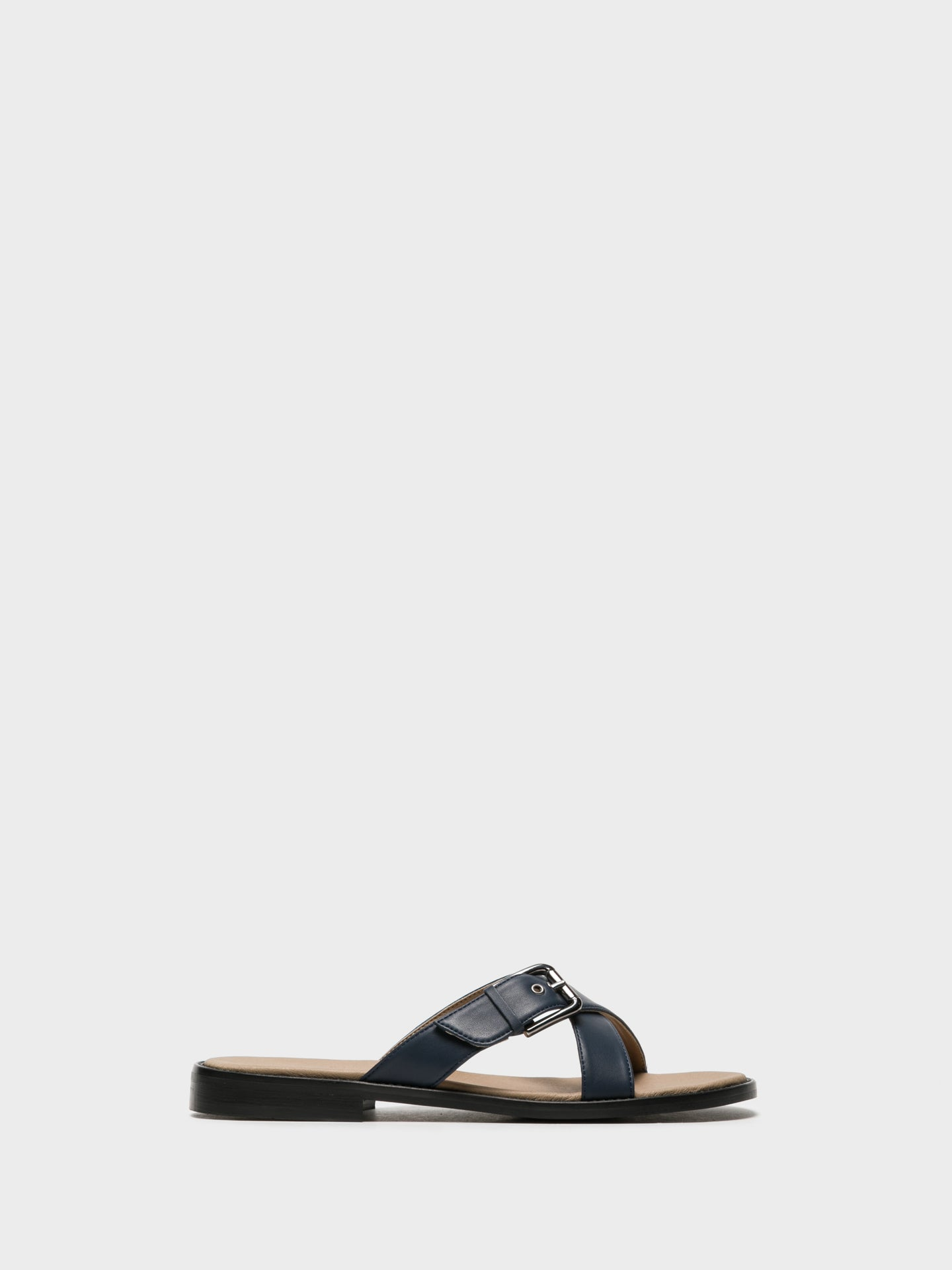 NAE Vegan Shoes Blue Open Toe Mules