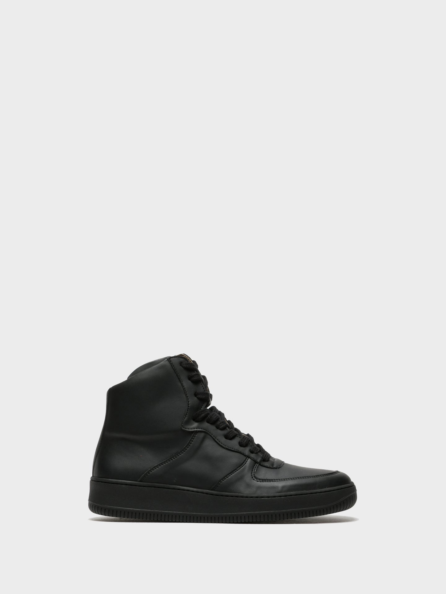 NAE Black Hi-Top Trainers