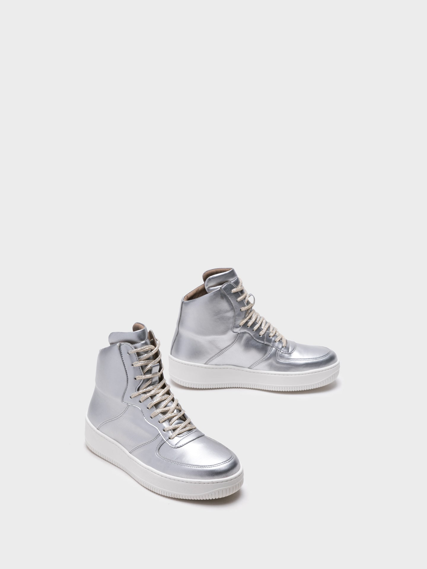 NAE Vegan Shoes Gray Hi-Top Trainers