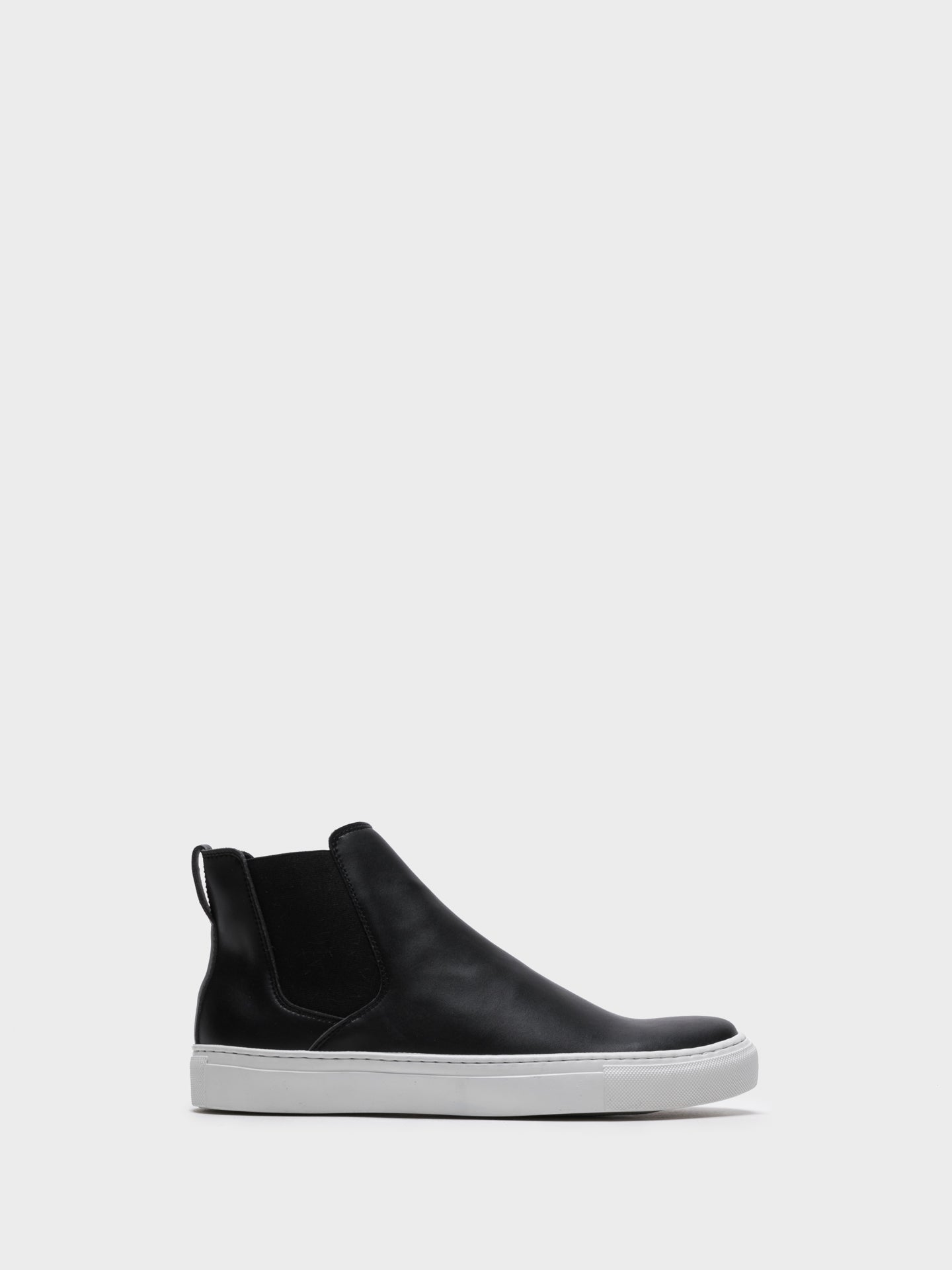 NAE Vegan Shoes Black Elasticated Trainers