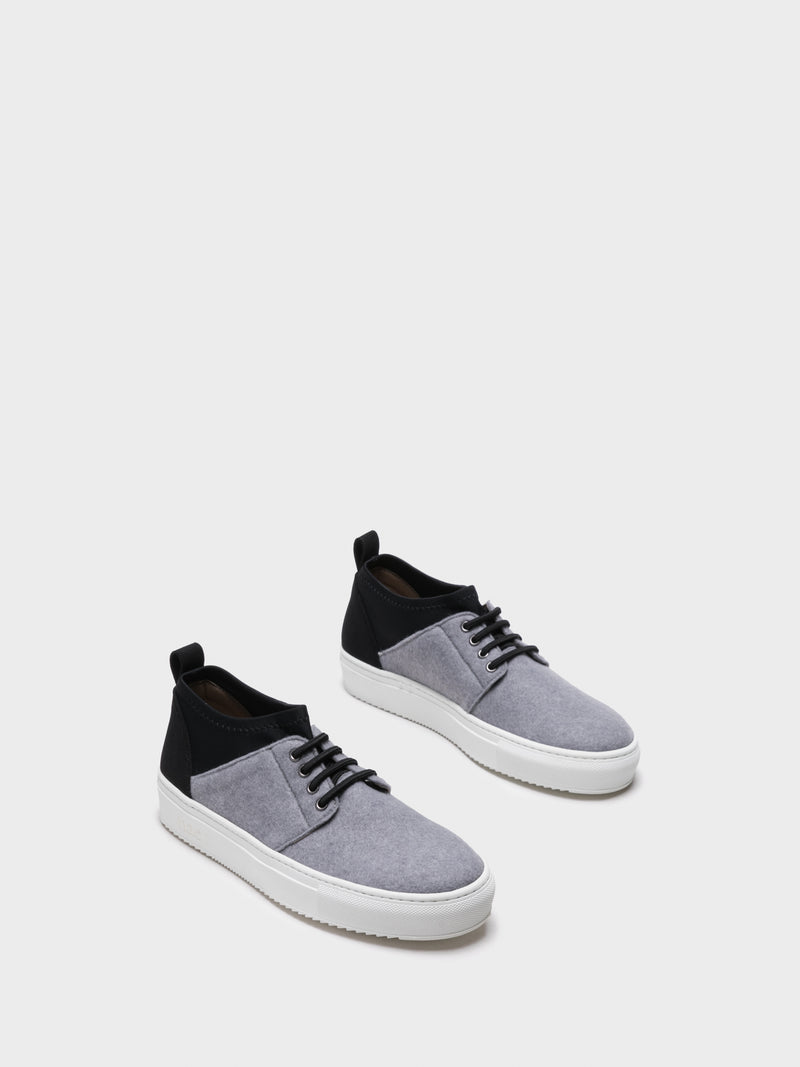 NAE Vegan Shoes Gray Elasticated Trainers
