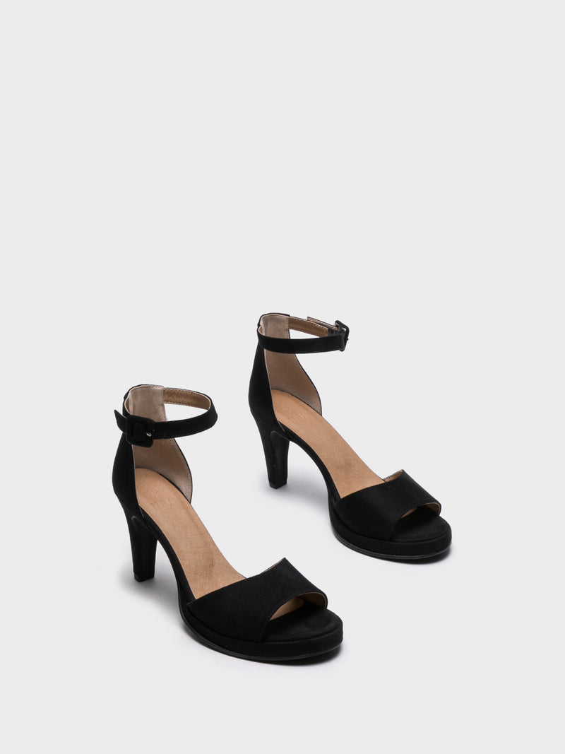 NAE Vegan Shoes Black Ankle Strap Sandals