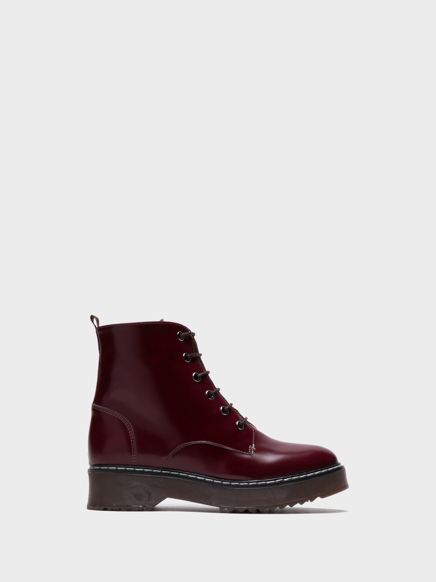 NAE Vegan Shoes DarkRed Lace-up Boots