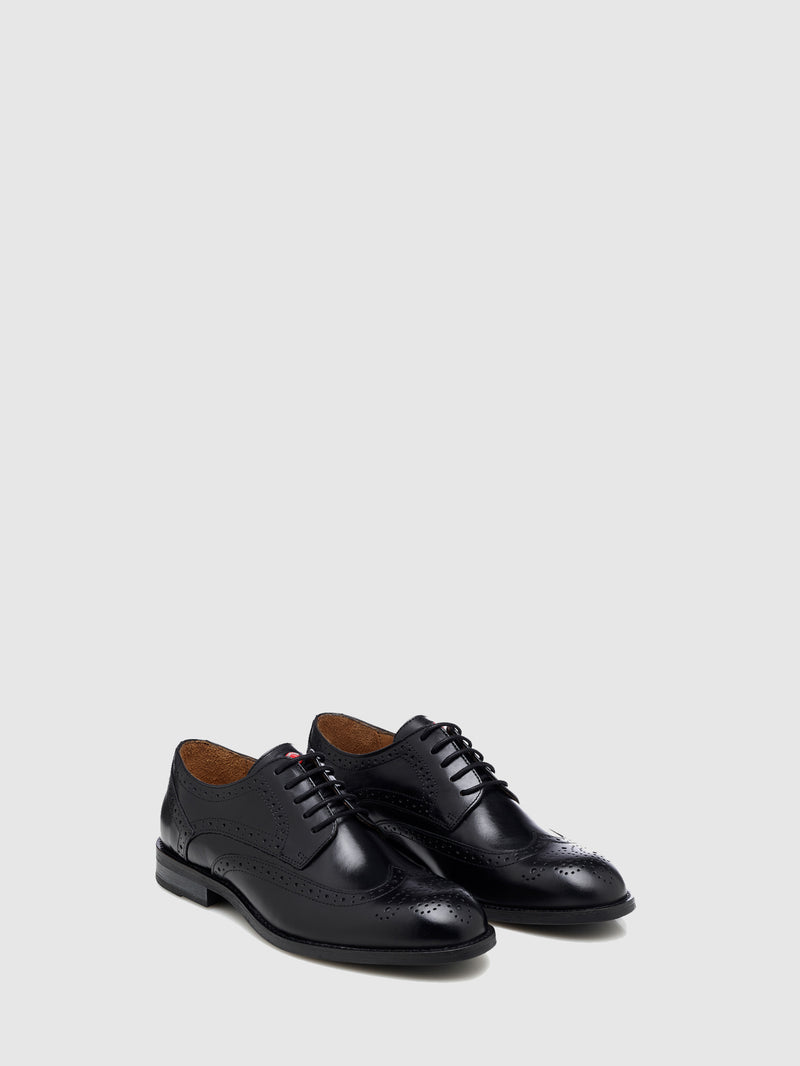 Nobrand Black Lace-up Shoes